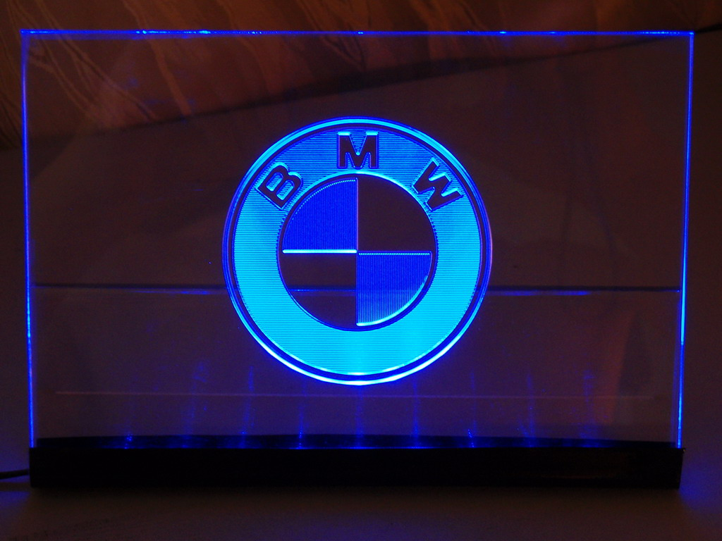 Illuminated tag (BMW)